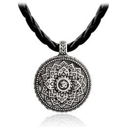 yoga pendant wholesale Coupons - Ancient silver lotus flower necklace Yoga inspired meaningful jewelry Lotus jewelry pendant necklace Zen jewelry Gift for her
