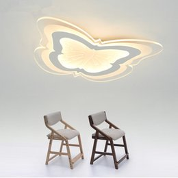 Wholesale Remote Control Butterflies - Butterfly children LED ceiling light led modern simple creative fashion bedroom study room living room light