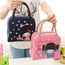 Wholesale insulated lunch bag black - Hot Vaccum Bag Stripe Picnic Lunch Drink Thermal Insulated Cooler Tote Bag Aluminum Portable Carry Case Lunch Box 4 Colors