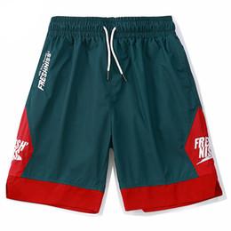 Wholesale Vintage Sweatpants - 2018 Men Sportswear Shorts Side Patchwork Contrast Color Letter Printing Streetwear Vintage Short Sweatpants
