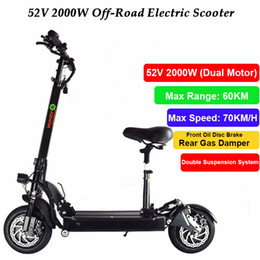 Wholesale electric bicycle motor controller - 2000W Powerful Dual Motor Electric Scooter Skateboard Off Road Hoverboard Mini Bicycle with Seat Remote Controller for Adults
