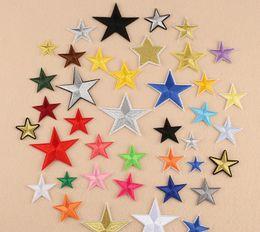 2019 costurar manchas de estrelas Estrela de cinco pontas pano colar remendo acessórios sapatos e chapéus patches applique engomadoria applique remendo bordado tecido e costura desconto costurar manchas de estrelas