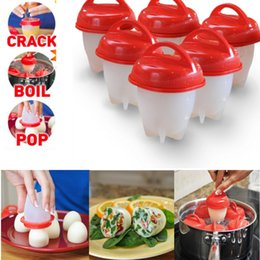 Wholesale plastic gear sets - Egglettes Maker Egg Cooker Silicone Hard Boiled Eggs without the Shell Eggies 6pcs set 30 Sets