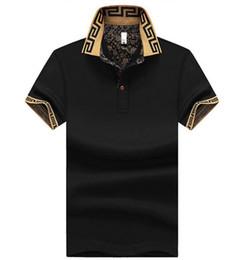 Wholesale Polka Dot Jersey - New Fashion Men's lapel Polos T-shirt Male Short sleeve Tee brand Man casual shirt Tee jerseys golftennis clothing