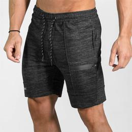 Wholesale denim sweat - Hot 2018 high-quality men's casual brand fitness shorts men's professional bodybuilding shorts sweat pa