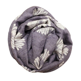 Wholesale Kids Infinity Scarves - Children Winter Warm Scarf Designer Kids Sunflower Baby Scarf Cotton And Flax Infinity Scarves Hot Selling