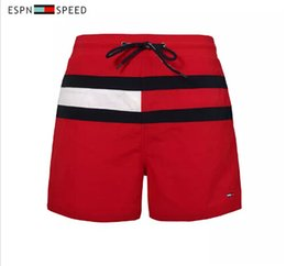 Wholesale Red Brand Swim - Wholesale Brand New High Quality Shorts Mens Casual Shorts Mens Summer Beach Surfing Swimming Athletic Swimwear