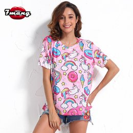 576ea1e82aedd 7mang 2018 summer women cute pink cartoon cat ice cream printing t shirt  lady holiday harajuku loose short sleeve party tees discount ice cream tees