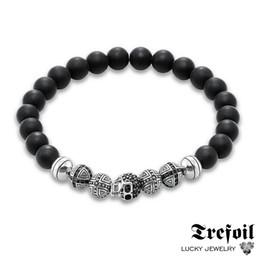 47540f11185 new gold boys bracelets Promo Codes - Men s Bracelet Hologram with Skull  and Cross Beads