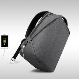 """17 bolsas de ordenador portátil para hombres online-2018 diseño Tigernu marca hombres mochila anti robo de carga USB 14 """"17"""" portátil mochila mochila de las mujeres de la escuela mochila bolsa"""