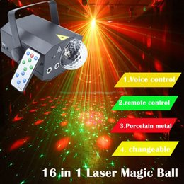 2019 magische wasserkugeln Edison2011 16 Patterns + 1 Laserlichtprojektor Magic Ball Fernbedienung 10W DJ Disco Wasserwelle Licht Bühne Lichteffekt Lampe günstig magische wasserkugeln
