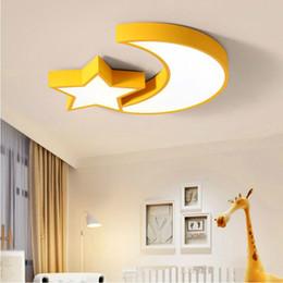 Abat-jour en acrylique en métal moderne moderne Star Moon Led Plafonnier Lampe Enfants Chambre Enfants Chambre Chambre Lampe 5 Couleurs Avaliable 36 W Lampe Intérieur ? partir de fabricateur