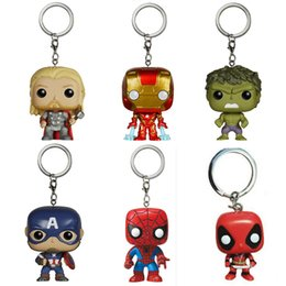 Wholesale Superheroes Figure Toys - Super Hero Funko Pop Figure Deadpool Thor Iron Man Superman Captain America Hulk Action Figures Superhero Collection Doll kids Toys