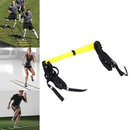 Correas de los pies online-5 peldaños 10 pies 3M escalera de agilidad correas de nylon para fútbol Velocidad Fútbol Entrenamiento de pies de entrenamiento de fútbol equipo al aire libre