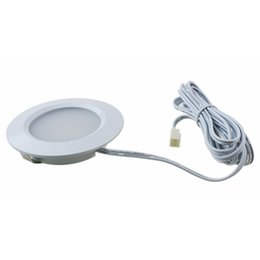 Wholesale Recessed Lighting Kits - DC 12V 3W LED Under Cabinet Light Kit 3000K-3500K Warm White Puck Lights Under Counter Lighting LED Recessed Small Ceiling Downlight