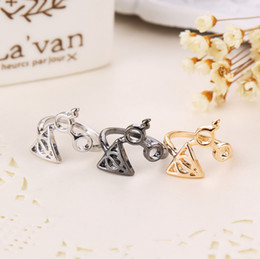 Wholesale Wholesale Glass Rings - Harry New Fashion Ring Lightning Scar Glasses Deathly Hallows Rings 3 Colors Potter Fashion Jewelry Drop Shipping