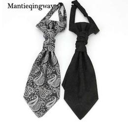 Mantieqingway Classic poliéster corbatas para hombre Negro Paisley Floral  Corbata para boda Chaleco Corbata Gravata e301626c78c7