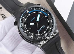 более чем 60 брендов Скидка Лучшая версия P ' 6780 P6780 PD Limited Edition дизайн спорт гоночный автомобиль погружение часы черный PVD черный / синий автоматические мужские часы резина pd04
