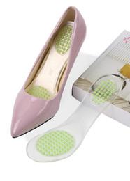 Подошва задняя пятка онлайн-Передние и задние гранулы частичные колодки обуви высокой пятки стельки женская обувь нескользящей гель бриош подушки стельки случайные стельки половина pad