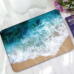 Portes de porche en Ligne-Sea Scenic Beach Wave Print Entrée Entrée Paillasson Tapis de cuisine Tapis de sol Tapis de sol Tapis de sol
