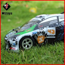 Wholesale Car Remotes For Sale - 2017 Hot Sales WLtoys WL A989 1:24 4 Channels Top Speed 25KM H Remote Control RC Car Super 100% Original for children Gifts