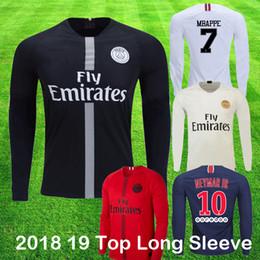 5601f020323 2019 shirts trikot voller ärmel 2018 19 psg Champions Langarm-Fußballtrikot  MBAPPE CAVANI KIMPEMBE DI