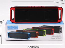 Deutschland Bluetooth-Lautsprecher LED SC208 Kabellose Lautsprecherhände Tragbarer Mini-Lautsprecher TF USB FM Unterstützung SD-Karte PC mit Mikrofon Versorgung