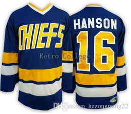 chiefs hockey 2018 - Movie Sport Jersey #16 Hanson Brothers Charlestown Chiefs Men's Hockey Jersey Embroidery Stitched Custom any Number and name