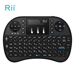 2019 pc rii bluetooth Mini teclados inalámbricos Rii i8 + 2.4G Perfecto para Smart TV, HTPC, PC con multitáctil hasta 15 metros rebajas pc rii bluetooth