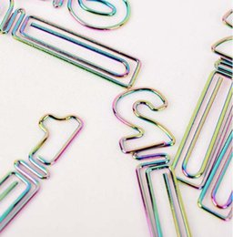 Wholesale b4 paper - NEW 50MM Paper Clips bookmark in Blister cute rainbow number Shaped Card Office supply rainbow silver tone cheap wholsale