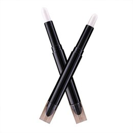 крем палитры теней для век Скидка Double Eyeshadow + Silkworm Pen Velvet Shimmer Earth Color Eye Shadow Cream Pen Eye  Palette Cosmetics