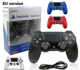 console do tablet android Desconto Game Controller sem fio NOVO UE versão PS4 para PlayStation 4 PS4 Game Controller Gamepad Joystick Joypad para jogos de vídeo com Retail Box
