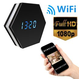 Wholesale Large Time Clock - 16GB memory 1080p Wifi Spy Clock Camera with 6Ir Night Vision,4500mAh Large Battery Long Time 2-way Communication Hidden Nanny Cam PQ277