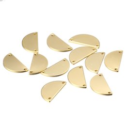 Wholesale Gold Horseshoe Charms - 100pcs lot 21*10.5mm sector Charms letter D alphabet Semicircle Horseshoe shape Pendants for Makin DIY Handmade Jewelry
