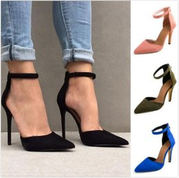Wholesale Aa Side - 2018 summer selling women's high-heeled with thin side with a sexy high-heeled sandals 4142 large size