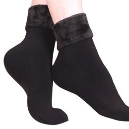 calcetines de cachemir para niñas Rebajas Invierno deportes al aire libre mujeres niñas Calcetines de Lana Cashmere Espesar Térmico Suave Casual Sólido Calcetín de Invierno sking equipos # 4O09