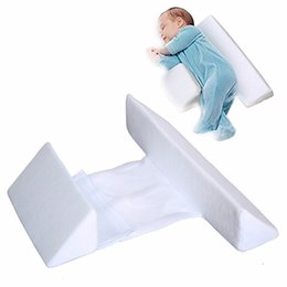 Wholesale memory cushion - Baby Wishes Infant Sleep Pillow Baby Side sleeper Pro pillow positioner anti roll cushion prevent flat head bedding