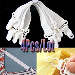 Wholesale plastic strap clip - 4pcs Triangle Bed Mattress Sheet Clips Grippers Straps Suspender Fastener Holder