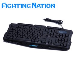 Wholesale Backlight Computer Keyboards - Fighting Nation Russian backlit gaming illuminate keyboard gamer led backlight 3 color switchable light wired USB computer mac