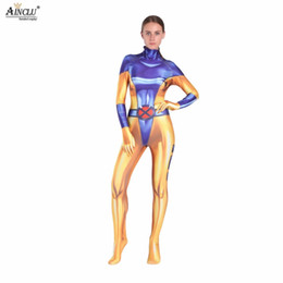 jeans anime Sconti Ainclu Kid's Jean Grey-Summers da donna Costumi Cosplay Anime X-men Tute Halloween Birthday Party Lycra Zentai
