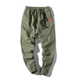 Sup reme pantalones casuales, pantalones deportivos de calle de la marea masculina, cómodos nueve puntos, pantalones pequeños, medias y pantalones, pantalones casuales desde fabricantes