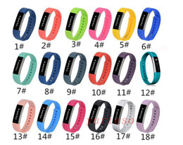 Wholesale white watch band replacement - 100% High Quality 2016 New Replacement Wrist Band silicone Strap Clasp For Fitbit Alta Smart Watch Bracelet 18 Color