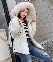 Меховой воротник жакет тонкий талия онлайн-новая зимняя куртка женщин ватные куртки тонкая талия хлопка-ватник женская меховой воротник сгущает хлопок-ватник дамы hoode