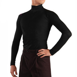 dac88d2296 Latin Dance Tops Men S Ballroom Practice Wear Professional Long Sleeve  Dancing Clothes Cha Cha Competition Dance Jacket ZH3100