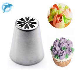Wholesale-LINSBAYWU Russian Tulip Flower Cake Icing Piping Nozzles  Decorating Tips Baking Tool  10 714dda3857fb