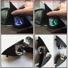 Altoparlanti stereo per auto online-2 pz set 12 colori modificabili controllo della luce ambientale tramite touch Car Tweeter Speaker per Mercedes-Benz CLA W117 Anteriore Sinistra / Destra