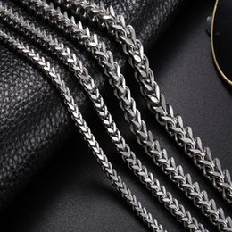 Wholesale Double Curb Chain - whole saleStainless Steel Link Necklace Men 18-30 inch 3-6MM Colar Masculino Cuba Male Long Curb Double Chain Necklaces Party Anniversary