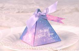 stella caramelle Sconti Space Stars Candy Box Compleanno di matrimonio Baby Shower Party Nebulosa Cosmic Paper Ribbon Sweets Chocolate Gift Favors Scatole confezione regalo romantica