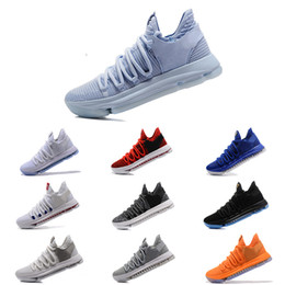 Wholesale Kd Boots - 2018 KD11 Basketball Shoes KD 10 New Sports Shoes Basket Ball Boots Mens Trainer Kevin Durant 10 Athletics Footwear Sport Sneakers