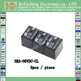 Wholesale 5vdc Relay - 5PCS piece SRA-05VDC-CL 5VDC 20A Black Power relay PCB Type T74-5V 5 feet SRA-5VDC-CL 20A 125VAC New original